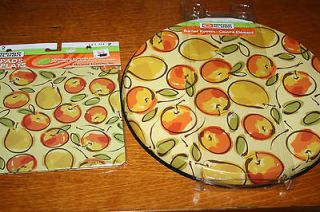 RANGE KLEEN HOT PAD & BURNER COVERS SET.BNIP!SET OF 6,FRUIT,PEAR/A