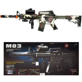 Double Eagle CAMO M4 M16 Airsoft Electric Assault Rifle AEG Semi/Full