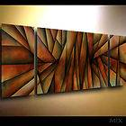 PAINTINGS abstract art Modern CONTEMPORARY DECORATIVE triptych M.lang