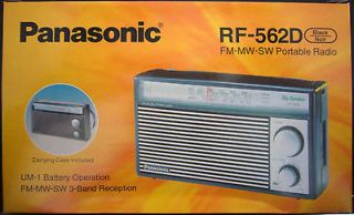 NEW*** PANASONIC RF 562D AM FM SW Shortwave Transistor Radio