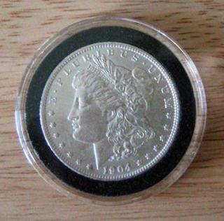 20) Morgan/Peace/Eisenhower US Silver Dollar Black Ring AirTite Coin