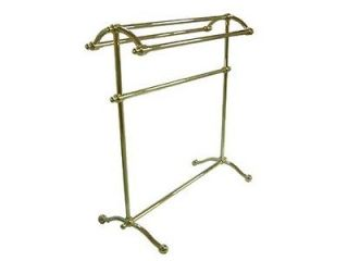 Kingston CC2292 Free Standing Towel RACK Polished Brass