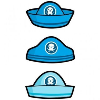 Octonauts Party Card Hats x 6