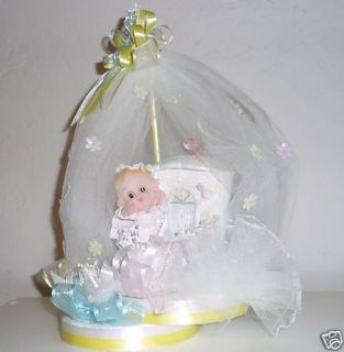 BAPTISM CHRISTIANITY TOPPER CENTERPIECE BABY SHOWER DIAPER CAKE FAVOR