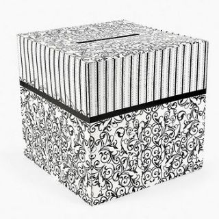 Black And White Wedding Card Box 12 X 12 / 1 PC / WEDDING (3/2496)