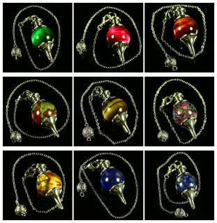 Green rose red yellow tiger eye kind of material Pendulum 18mm Ball