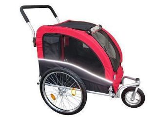 Booyah Large Pet Dog Cat Trailer and Stroller Cargo Red