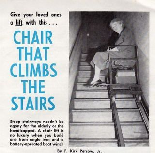 HANDICAP STAIR LIFT HOW 2 PLANS CHAIR CLIMBS THE STAIRS