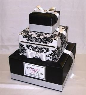 Elegant Custom Made Wedding Card Box Rhinestone Accents (any color)