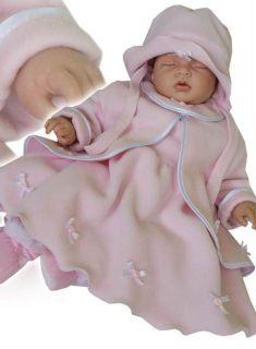 Baby girl pink fleece dress set.Christening/ baptism/flower girl/ gift
