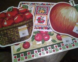 Vinyl Placemats Variety   Apple Shades, Apples in Basket Apples