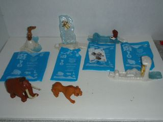 2002 ICE AGE Dinosaurs MIXED LOT 6 BURGER KING MCDONALDS TOY FIGURE