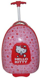 USA Hello Kitty Childrens Carry On Pod Girls Wheeled Pink Luggage