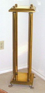PLANT STAND Brass Metal Telephone Table Claw Feet 36""