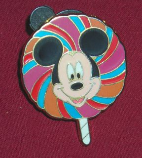 DISNEY MICKEY MOUSE FACE LOLLIPOP PIN LE OF 3800