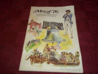 Men of 76 Revolutionary War 1776 playset book from 1970s