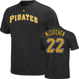 Youth Black Majestic Name and Number Pittsburgh Pirates T Shirt