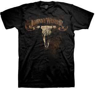Johnny Winter   Cow Skull [T Shirt]