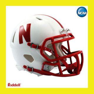 CORNHUSKERS OFFICIAL NCAA MINI SPEED FOOTBALL HELMET by RIDDELL
