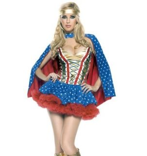 Sexy Super Woman Hero Halloween Costume Wicked   Plus Size 1X / 2X
