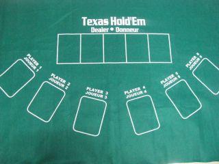 ... Poker Table Top Texas HoldEm Blackjack Layout Felt 36x 72 2 Side ...