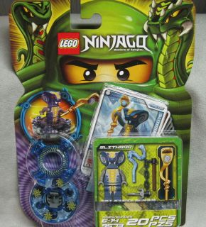 LEGO NINJAGO MINIFIGURE SLITHRAA WITH HYPNOBRAI STAFF