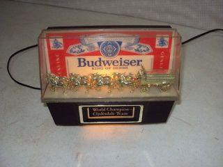 VINTAGE BUDWEISER WORLD CHAMPION CLYDESDALE TEAM LIGHTED ADVERTISING