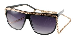 Bling Fashion Celebrity Black Designer Sunglasses Lady Gaga Style