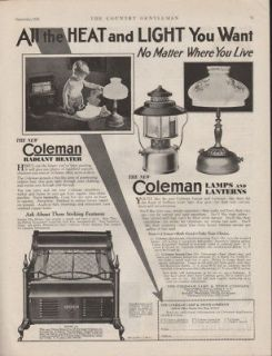 FA 1929 COLEMAN LAMP LANTERN HEATER WICHITA GAS CAMP LIGHT