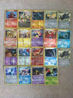 19 Rare Pokemon Cards Growlithe Salamence Misdreavus Shinx Palkia