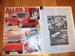 Original 1989 Chevy Truck Alloy Toy Pro street article