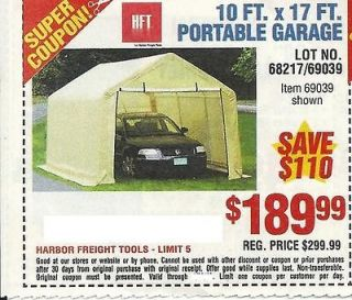 Harbor Freight Portable Garage