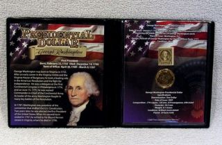 George Washington Presidential Dollar   Coin & Stamp Commemorative