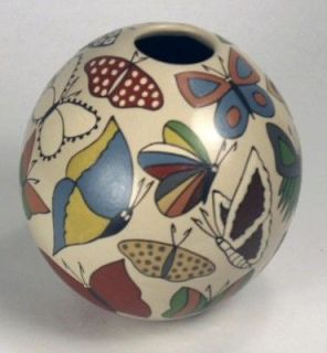 Mata Ortiz Pottery by Maribel Lopez   Butterflies