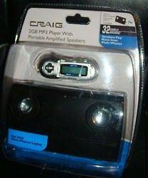 CRAIG CMA3500E 2 GB  Player with Portable Amplified Speakers