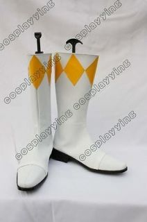 Power Ranger Yellow Costume Cosplay Shoes Boots Custom Made