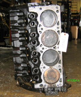 CHRYSLER/DODGE 3.8L ENGINE REBUILDABLE SHORT BLOCK 1993 #17354