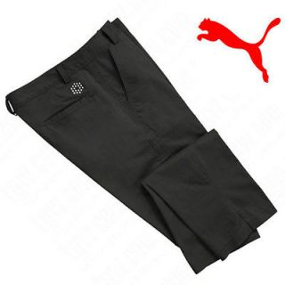 NWT 2012 Puma Mens Golf Style Pants Trousers Rickie Fowler Black