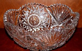 ELEGANT CUT CRYSTAL GLASS BOWL   VINTAGE (CB 4)