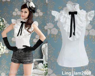 Japan fashion punk Rock gothic Lolita Lace Collar top Blouse Shirt