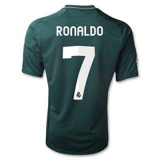 Ronaldo 7 Real Madrid Third Soccer Jersey Green Champions Lg