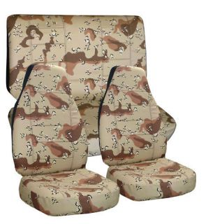 JEEP CHEROKEE CAR SEAT COVERS CAMO DESERT STORM FRONT & REAR HIGH