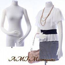 dress form flexiable pinnable arms hands white body torso  RB
