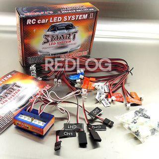 RC Car truck 1/10 LED lighting kit BRAKE + HEADLIGHT + SIGNAL fit 2.4g