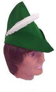 PETER PAN, ROBIN HOOD, ELF, GREEN HAT WITH FEATHER NEW