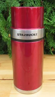 Coffee Metallic Red Steel Thermos 16 Ounce Travel Mug Barista Tea Cup