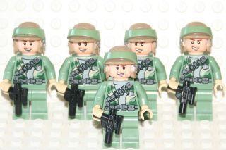 STAR WARS LEGO MINI FIGURE 5 ENDOR REBEL TROOPERS MEN MINIFIG PEOPLE