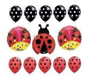 Cute Ladybug Polka Dot Birthday Baby Shower Balloon Party Set Mylar