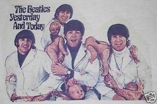 ORIGINAL VTG BEATLES BUTCHER ALBUM COVER SHIRT 1966 L