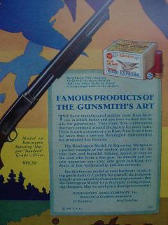 1929 Remington Model 10 Repeating Shotgun Color Poster